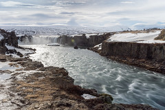 Goðafoss (Mikko Manner) Tags: nikond7200 nikon sigma sigma1835mmf18art polarisingfilter filter iceland godafoss water river longexposure exposure clouds sky waterfall famous sightseeing travel roadtrip 2018 tripod adobelightroom cliff cliffs waves nature natural smooth snow scenery landscape snowylandscape rocks ice d7200 dx