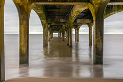 Under Boscombe Pier, Bournemouth (cee live) Tags: bournemouth boscombe pier sea glassy glass sand beach sky uk england flickr canon