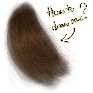 How to draw hair?