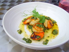 Seared Scallops with Anchovy, Mint, Coriander and Lime Dressing (Tony Worrall) Tags: add tag ©2018tonyworrall images photos photograff things uk england food foodie grub eat eaten taste tasty cook cooked iatethis foodporn foodpictures picturesoffood dish dishes menu plate plated made ingrediants nice flavour foodophile x yummy make tasted meal nutritional freshtaste foodstuff cuisine nourishment nutriments provisions ration refreshment store sustenance fare foodstuffs meals snacks bites chow cookery diet eatable fodder doncaster searedscallopswithanchovy mint corianderandlimedressing shellfish bowl oil