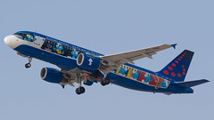 """TLV - Brussels Airlines Airbus 320 OO-SND """"The Smurfs Livery"""" (Eyal Zarrad) Tags: a320 brusselsairlines llbg oosnd telaviv thesmurfslivery aircraft airport aviation airline airlines aeroplane avion eyal zarrad airplane spotting avgeek spotter airliner airliners dslr flughafen planespotting plane transportation transport photography aeropuerto tlv israel 2018 ben gurion canon 7d mk2 jet jetliner"""