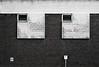Silver Street Head (Delay Tactics) Tags: sheffield wall windows bricks sign black white bw film