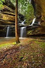 Double Falls (VonShawn) Tags: kentucky kentuckywaterfalls stream water waterfall mccrearycounty hdr photomatix nikond800 creek hike