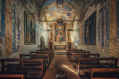 Il dipino (Thomas Junior Fotografie) Tags: church chiesa chair christ chapel kirche exploration explorer exploring explore eglise rotten ruins ruine urban urbex ue urbaine urbanexplorer italia italy italien old övergivna places place photography photoshop lost lp light licht lumiere lostplace luce lightbeam lostplaces holy hdr gold forgotten forsaken forladten fairytale fenster fenetre foto decay door sony scenery abandoned abandonné abbandonata alpha77mii alpha58 sole colours colori