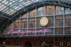 I Want My Time With You (zawtowers) Tags: st pancras international station london iwantmytimewithyou purple list sign dent clock thelovers sculpture paul day afsnikkor50mmf18g 50mm fifty barlow shed arch grand architecture want time you