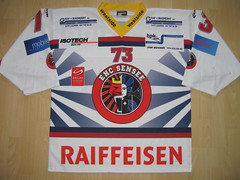 EHC SenSee Game Worn Jersey (kirusgamewornjerseys) Tags: ehc sensee switzerland game worn jerey ice hockey swiss league