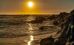 Asilomar Beach Rock Reflections (Thanks for 1.4 million views) Tags: kando sony