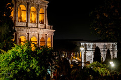 Arco e Colosseo by night (Luca Defelice) Tags: colosseo arco costantino
