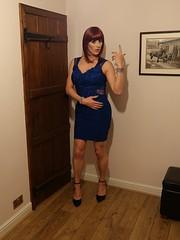 Know your role... (Juliette Noir) Tags: transgender transvestite trans transformation crossdressing crossdresser cdtg blue dress heels