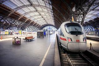 DB at Leipzig Hauptbahnhof, Germany