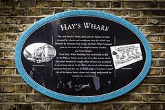 Hay's Warf Sign (Mabry Campbell) Tags: britain england europe greatbritain hayswark london uk brickwall brocks fineartphotography image photo photograph photography sign sing f40 mabrycampbell january 2013 january42013 201301042281 40mm ¹⁄₁₃sec 100 ef1740mmf4lusm