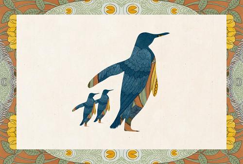 Carte postale // 10x15cm // Pingouin