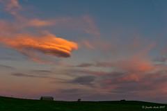 Tassie sunset (NettyA) Tags: australia sheffield tasmania tassie barn clouds landscape sky sunset shed