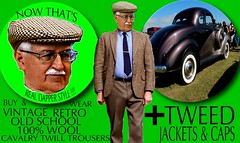Tweed Dapper Sphere part 3 (Make Oxygen... Kill Co2...Plant More Trees) Tags: old vintage car tweed cap jacket mens dapper 2018 fashion cavalrytwill gents plaid tweedcoat flat cheesecutter auto nz kiwi country tie clothes poster sign text houndstooth dogtooth retro oldschool