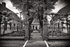 Antique Symmetry (Alfred Grupstra) Tags: blackandwhite architecture oldfashioned old history buildingexterior house builtstructure cultures retrostyled street outdoors urbanscene facade famousplace monochrome city nopeople residentialbuilding town