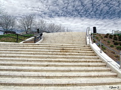 To the sky (Jean S..) Tags: sky clouds stairway stairs grass blue green outdoors day white