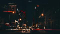Light of the city (knellwang) Tags: city lighting light night longexposure street car movie film fujifilm china dark building architecture