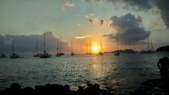 Cae el sol bajo los 17 Mástiles (zaydarevertobonal) Tags: mediterráneo ibiza sol mar barquitovelero elocasodelmediterráneo instantánea