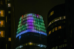 salesforce projections (pbo31) Tags: sanfrancisco california nikon d810 color april 2018 spring boury pbo31 night dark black salesforce financialdistrict city urban contemporary architecture green projection