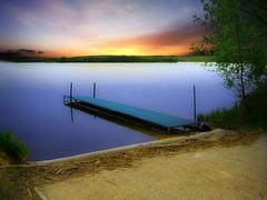 The dock 3 (mrbillt6) Tags: landscape rural prairie lake waters dock landing mblue tree sky outdoors country countryside northdakota