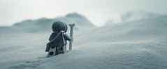 it's dangerous to go solo (jooka5000) Tags: cinematography lego star wars hoth scene diorama mountains icy ice cold winter toys landscape photography hansolo jooka5000 secretlifeoftoys