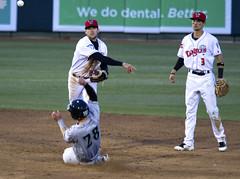 Double Play (joeldinda) Tags: olympus omdem1mkii em1 omd em1ii 2018 lansinglugnuts leagues midwestleague baseball daytondragons michigan lansing ballpark ballyard 4086 april