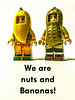 We're nuts and bananas! (tim constable) Tags: banana peanut nut food costume outfit dressup healthy fruit diet ingredients timconstable mad bonkers partners friends friendship amigoes yellow brown hats wardrobe party lego minifigures minifigs fun laugh joke hilarious funny insane bristol avon uk
