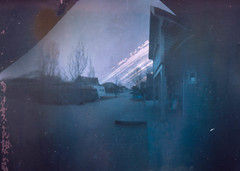 Only 203 days - happy WPPD (Rosenthal Photography) Tags: ilfordmultigradeivrc bier lochkamera 20180401 203tage wwpd bierdose analog pinhole beer can beercan landscape house street ilford multigrade rc 5x7 203days