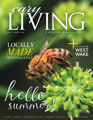 The Honey Bee - My May/June Cover of CL (Ginny Williams Photography) Tags: raleighphotographer charlottephotographer northcarolinaphotographer northcarolinaphotographers macro nchoneybee ncmountains courthousefalls courthousefallswaterfall bugs insects bokeh green life ncwildlife mountains northcarolina insect wings honeybees nikon ncblogger ncbloggers lakenormanphotographer publishedphotographer magazinecover publication ginnywilliamsphotography trianglenc text graphicdesign magazines coverimage bees