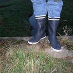 159 - AIGLE Wellworn Wellies filled with mud ( Rubberboots Gummistiefel Laarzen thumbnail