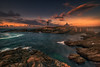 Sunset in isla pancha (ALFONSO1979 ) Tags: landscape travel amazing sky moon new exposure colors clouds water trees paysage nature flowers summer flickr art colours sea scape pink old bluehour orange explore photo spain galicia lighthouse