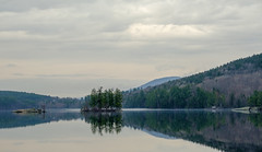 North Pond (jtr27) Tags: dscf8996xl pond island maine reflection newengland jtr27 fuji fujifilm xt20 xtrans xf 50mm f2 f20 rwr wr bryantpond northpond greenwood lockemills fog