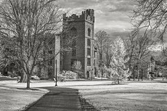 MHC Clapp Hall - Infrared (frntprchprss) Tags: mountholyokecollege clapphall infrared jamesgehrt campus blackandwhite