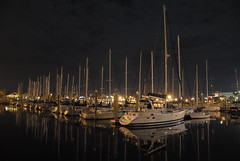 Kemal, Texas-Marina (richardsscenery) Tags: kemal kemahtexas galveston marina houston boats water night nightphotography nighttime stillwater sailboats masts stars reflection waterreflection gulfwater nikon camera