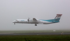 Luxair LX-LQC (megatroncox) Tags: landing arrival low visibility fog procedures dublin airport aircraft luxair bombardier dash8 q400 luxembourg