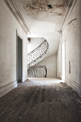 Elegantly decayed (Alexandre Katuszynski) Tags: urbex urbanexploration ue urbexfrance stairs staircase abandonedstaircase abandonedstairs castle abandonedcastle lostplaces lowlight light verlassen forgotten decay derelict decayed discarded rotten