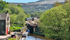 Climbing To Standedge (whosoever2) Tags: uk united kingdom gb great britain england nikon d7100 train railway railroad may 2018 tpe northern rail class156 class185 marsden yorkshire 2f83 1f86 scarborough liverpool huddersfield wigan standedge canal sun spring