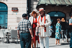 dressed to celebrate (ewitsoe) Tags: canon canoneos6dii city cityscape europe spring warszawa erikwitsoe poland streetphotography urban warsaw consitutionday celebrating style holiday warm hot summertemps temperaturefun street