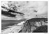 Cabo da Roca (Raul Kraier) Tags: cabodaroca portugal lighthouse faro atlantic ocean clouds bw monochrome blackwhite canon canon6dmarkii wideangle