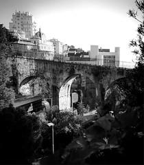 """The Bridge"" (giannipaoloziliani) Tags: city flickr hdr italy italia landscape view sky lightandshadow liguria monochrome monocromatico nikonphotography nikoncamera streetphotography skyline genova genoa blackandwhite biancoenero motors architecture arcs bridge"