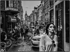 Amsterdam Street II (michaelhertel) Tags: amsterdamholland netherland street sw monochrome bw people city urlaub travel