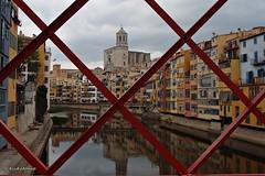 Girona (AviAntonio) Tags: catedral riu reflexos pont cases río reflejos puentes girona