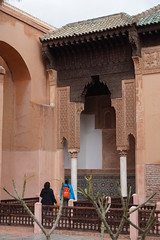 Saadiens Tombs, Marrakech, Morroco (mattk1979) Tags: marrakech morroco arab northafrica sun sky clouds city buildings old historic saadiens tombs tiles carving mausoleum kasbah