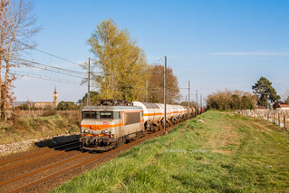 20 mars 2014  BB 7415  Train 58880 Sibelin -> Hendaye  Portets (33)
