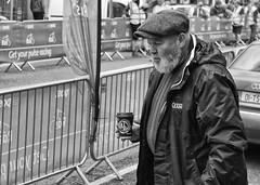 Full Roast (Frank Fullard) Tags: frankfullard fullard candid street portrait coffee carryout togo drink cap beard newport mayo irish ireland ras race cycle cycling monochrome blackandwhite noir blanc