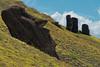 Reclined (Whidbey LVR) Tags: lyle rains lylerains olympus em5ii easter island rapa nui chile rano raraku moai quarry