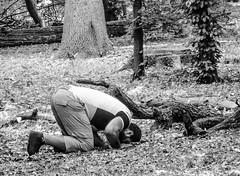 Wherever praying (A. Yousuf Kurniawan) Tags: muslim praying blackandwhite monochrome humanity humaninterest people streetphotography forest ramadan