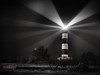 Fiat Lux et facta est lux (eric_marchand_35) Tags: charentemaritime oléron ile island phare lighthouse night lightbeam nb bw fiatlux atlantic france stars étoiles olympusomdem10ii 17mm18