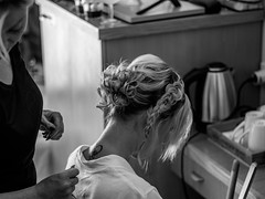 Bridal Preparations (Mad Cow Imagery) Tags: 7dwf koloni canonef50mmf18stm tattoo canoneos80d bigday girl woman holiday weddingday blackandwhite portrait weddinghair hair bridalpreparation wedding bride hotellouisphaethonbeachclub paphos cyprus