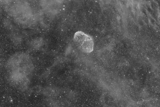Crescent Nebula in Ha